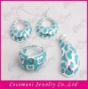 Fashion stainless steel jewelry set enamel jewellery sets