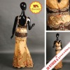 Real sample plus size middle east arabic golden beaded evening dress