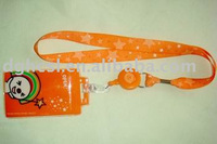 neck ID card holder with lanyard