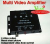 Car 4 way video signal amplifier booster processor
