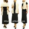 TT183 mink fur knitted muffler/shawl for women