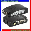 Composite RCA Video & S-Video to VGA Converter Supporting Wide Screen