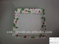 Melamine wholesale christmas decorate charger plate