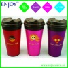 reusable hot coffee cup with cool design