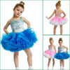 JF0093 New Design Blue Or Pink Christmas Pageant Dresses For Girls