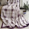 Tartan print flannel blanket