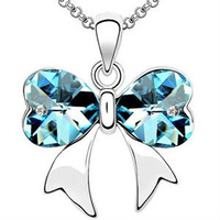 alloy butterfly pendant necklace