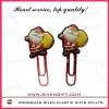 lovely Santa Claus shape soft pvc book clip for promotion gift