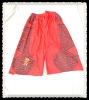 Red Men's gym shorts