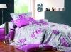 jaquard cotton printed bedding set/sheet set/bed linen fabric