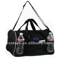 Black sturdy sports&duffel bag, Polyester/ PVC