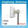 2.4GHz 17dBi Enclosure Flat CPE Antenna
