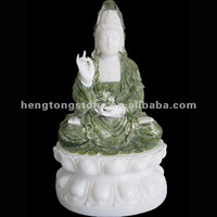 Small Marble Sitting Statue of Kwan-yin
