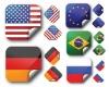 National Flag Sticker