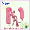 Remote And Nunchuk Controller For Nintendo Wii +Pink HOT