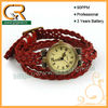 2013 Korea Style Red Braid Leather Band Lady Wholesale Watches 100044