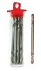 """Double-Ended 1/8"""" HSS Stubby Drill Bits with Chromium Finish"""