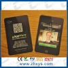 pvc crad paper business card with QR code name cad Qr code business card pearl paper