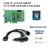 4/8 Channel Video, 4 chs Audio, D1/Half D1 DVR Card (PCI-E) Windows 7 support, Mobile remote view
