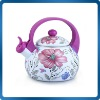 Enamel whistling kettle with full decal