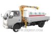 Dongfeng xiao ba wang truck cargo crane has sprinkler (telescoping boom crane)