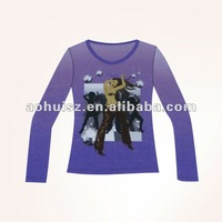 fashion O neck lady t shirt
