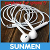 Wholesale High quality earphone for Apple iphone 5/4, for ipad, with Volume control