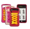 Hot Promotion Funny Sporty Shoes Lace Silicone Case Cover for iPhone 4