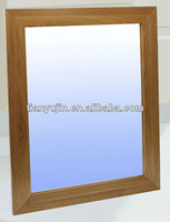 big solid wooden bathroom mirror,solid walnut framed mirror,clear lacquered,NC