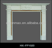 HX-FP1020 150*117*28cm White Marble Fireplace