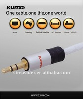 Gold plated 3.5mm stereo cable,stereo audio cable