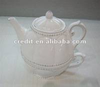 2012 New Design White Ceramic Tea pot