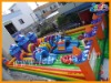 castle kids inflatable amusement park with obstacle