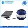 Blue hamburger mini speaker with CE certificate
