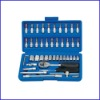 46-Piece 1/4-inch Standard and Metric Socket And Bit Socket Set With Blow Case