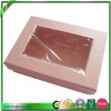 Pink paper gift box with window