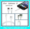 Free Shipping wholesale newest ligihing 8 Pin USB cable for iphone 5