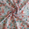 Pink and blue color new lace fabric of transfer printing