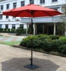 Wooden solar LED light outoodr umbrella