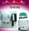 12W Nail Art Machine White Color Led Nail Curing Lamp