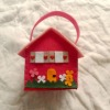 spring crafts house model felt bag
