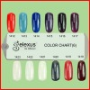 2012 Brand New Gelexus UV/LED Soak Off UV Color Gel Color Chart