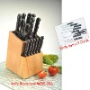knife set with wooden knife block