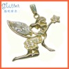 14k gold plated pendant/angel pendant