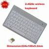 2012 Newest 2.4G 2.4GHz wireless Slim ultrathin keyboard for tablet Netbook laptop PC