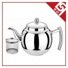 Stainless Steel Tea Pot with Tea Strainer