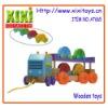 37Cm Wholesale Kids Wooden Truck Intelligent Wooden Toy