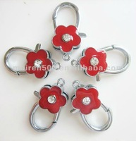 2012 Component Wholesales Enamel flower lobster buckle charm