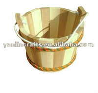 Outdoor wooden water pot