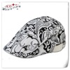 Fashion printed navy white beret hats